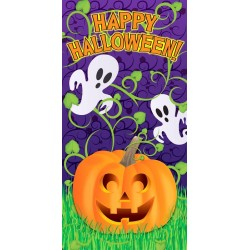 Door Cover Pumpkin Vine