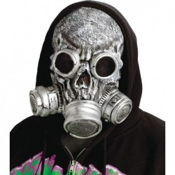 Zombie Gas Mask Silver