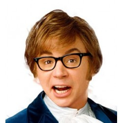 Gleraugu Austin Powers...